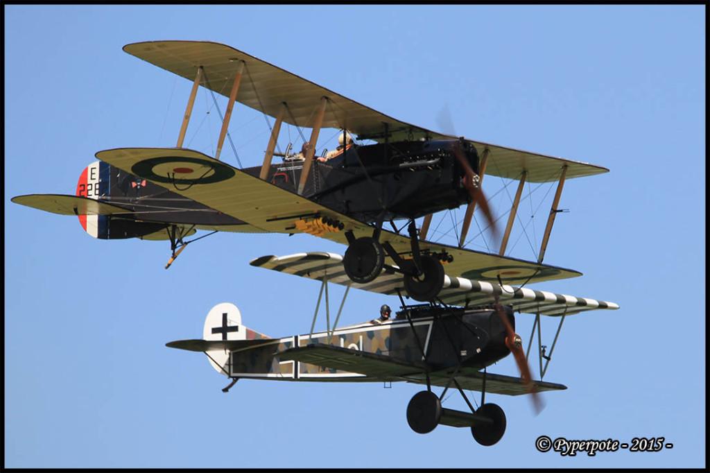 Bristol Fighter FB et Fokker D VII F