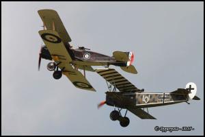 Bristol Fighter F2B et Fokker D VII F