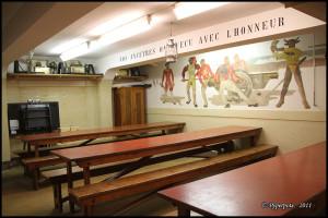Pré-Giroud - Fort 3945 - Vallorbe (Suisse) - Le refectoire