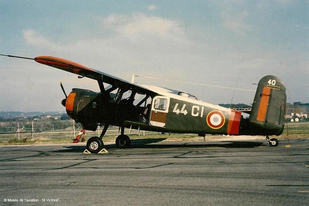 Musée de l'Aviation de Saint-Victoret, Max Holste. MH 1521 Broussard F-SCCI n° 40 Aix-Les Milles. 1957 – 1988