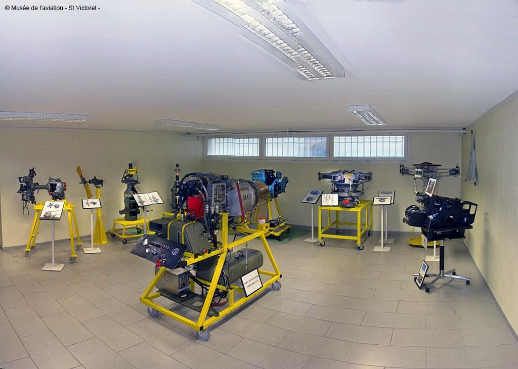 Musée de l'Aviation de Saint-Victoret, salle des mécaniques