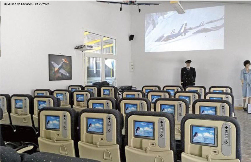 Salle de projection du Musée de l'Aviation de Saint-Victoret