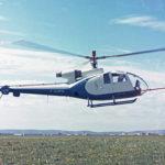 SA340-001 en vol, coll.Liron