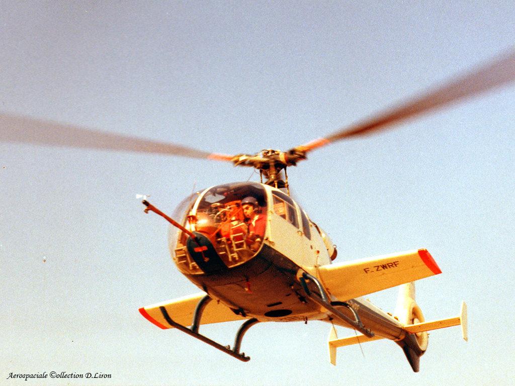 1972 - SA 349 Z 001 F-ZWRF Essais rotor Biflex et ailes additionnelles ph.Aerospatiale coll