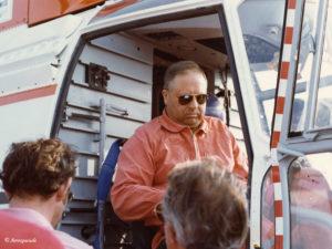 1977 - Un de ses derniers vols sur le SA 331 01 F-WZAT en 1977 ph